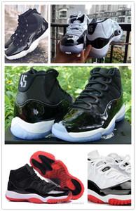 25. Yıl Çocuk 11'leri WMNS Portakal Trance Basketbol ayakkabıları nefes 11 Beyaz Concord High 45 spor ayakkabısı erkek çocuklar eğitmenler Bred