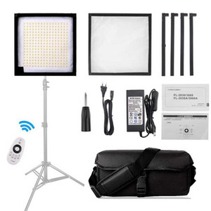 FL-3030 LED Video Light 30x30cm Fabric Light Handheld Photography Lamp Studio Lamp Foldable 5500K CRI90 with Remote Control
