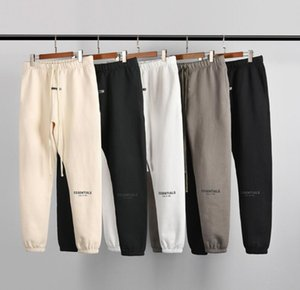 2020 New Autumn Winter USA Fear Of God Essentials Silicone letters print Trousers Casual Fog Sweatpants Men Women FG Jogger Pants