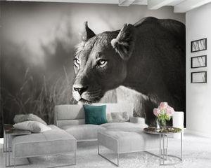 Custom 3d Animal Wallpaper 3d Photo Wallpaper Mural Fierce Animal Digital Printing HD Decorative Beautiful Wallpaper