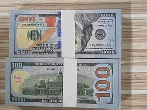 Hot 100 pcs / pack US Dólar Alta Qualidade Adereços 100 Nova Bill Bill Fake Play Money Prop Filme Shooting Dinheiro