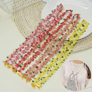 349WM Lace mask small chrysanthemum collar Lace glasses Glasses Glasses chain metalhanging belt mask extension rope hanging rope
