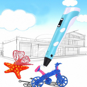 3D Pen Three D Printer Pen For Drawing With Plastic 100M PLA ABS Filament USB Adapter Creativity Birthday Gift Original Gifts 93Jh#