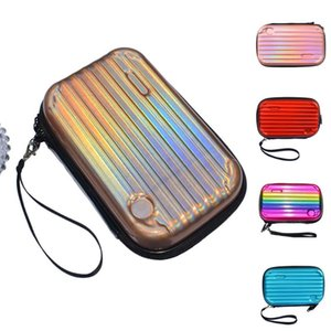 Women Makeup Handbag Holographic Laser Clutch Bag Mini Purse Colorful Wallet