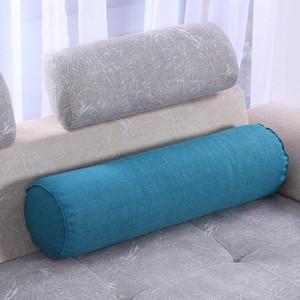 Colonna a pelo del cotone cuscini divano-letto cuscino rotondo rullo Cuscini cervicale cuscino capo gamba posteriore di sostegno di viaggio della vita Cuscini