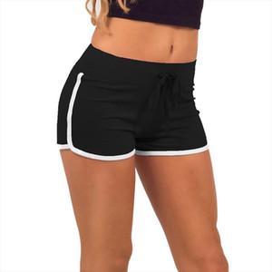 Summer Soft Shorts Women Sports Cotton Shorts Gym Workout Drawstring Elastic Waist Hot Workout Waistband Skinny Short hot