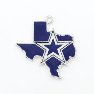 Football Dangle Charms Cowboy Mix Style DIY Pendant Bracelet Necklace Earrings Jewelry Making Accessories
