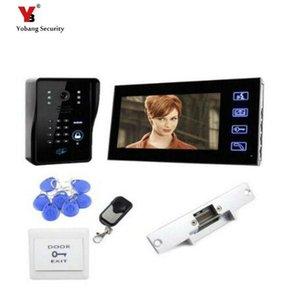 Yobang أمن فريشيب 7 بوصة TFT اللون LCD Visual Video Intercom Boor Bell Video Door Door Point With Card Unlock Function