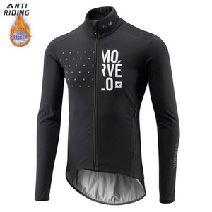 2020 Morvelo Winter Thermal Fleece Bicycle Manica lunga Cycling Jersey Uomo Abbigliamento Pro Team Abbigliamento per bicicletta all'aperto Ropa Ciclismo