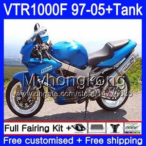 Body +Tank For HONDA SuperHawk VTR1000F 97 98 99 00 01 05 56HM.35 VTR1000 F VTR 1000 F 1000F 1997 1998 1999 2000 2001 Fairings Factory blue