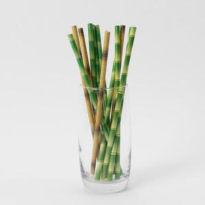 Biodegradabile Bamboo Paper paglia bambù Cannucce Eco-Friendly 25Pcs una parte del terreno Usa Bamboo Cannucce Disaposable paglia sulla promozione BWB2117