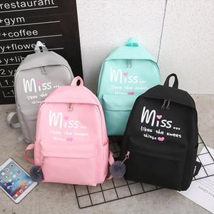 4Pcs set Women School Backpacks Nylon Schoolbag For Teenagers Girls Student Book Bag Boys Mochilas Sac A Dos