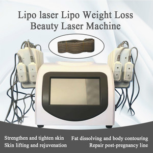 Newest Design High Quality Fat Loss 5mw 635nm-650nm Lipo Laser 14 Pads Fat Burning & Cellulite Removal Beauty Body Shaping Slimming Machines