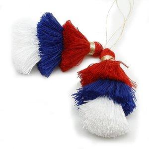 1 pz 75mm 3 colori Poliestere nappa Trims Cotton Silk nappa Trim per la decorazione domestica FAI DA TE Accessori tenda per cucire H WMTAMD