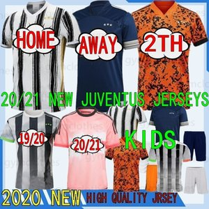 Thai 20/21 New Boniperti Buffon Zidane Palace Soccer Jersey Home Custom De Ligt Dybala Higuain Buffon Men + Kids 19/20 Camisa de Fútbol