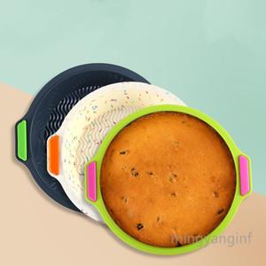 Silicone Round Cake Pan, Bread Pans for Baking, Reusable Baking Pan, Silicone Bakeware Cake Molds Dishwasher Safe MY-inf0473