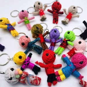 Smafes wholesale 50pcs lot Handcraft Voodoo Doll Toy As Mobile Pendant,Keychain, Free Shpping 201030