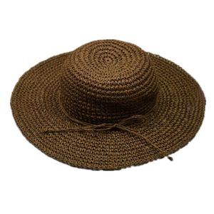 New Fshion Rosette Panama Hat Women Summer Hats Beach Ladies Wride Brim Outdoor Casual Solid Color Straw Cap Gorra