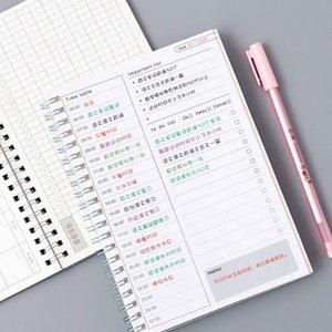 Diario semanal Mensual 2021 Planificador Cuaderno Espiral A5 Tiempo Memo Planificación Organizador Agenda Programar Escuela Oficina Estacionaria