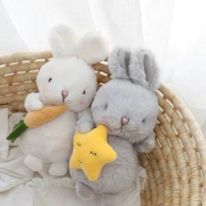 Super fofo macio coelho pelúcia brinquedo pelúcia animais angora coelho pelúcias boneca bebê apazigos apazigos brinquedos para crianças presente de aniversário para criança lj201126