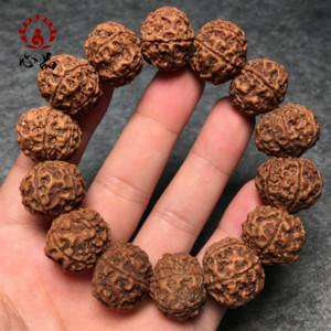 perline buddisti uomini stringa di mano di 0bnWy nepalese grande Vajra Bodhisattva che giocano Vajra Bodhi cinque o sei perle di pezzi braccialetto di fr