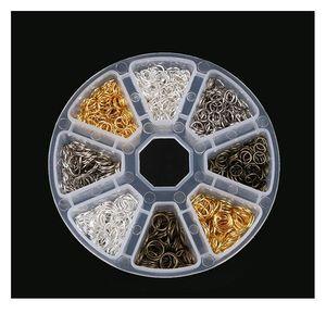 Schmuckherstellung Zubehör Boxen DIY-Ergebnisse Schmuckmaterial Perlen Caps Ohrring Haken Jump Ring Claspe Pins Alloy JLLOQL