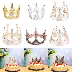 OTROS SUMINISTROS DE FIESTA FESTIVE 1 UNID MINI MINI CORONICIDAD PASTURA Topper Metal Pearl Feliz Cumpleaños WeddingEngestion Decoración dulce Accesorios para el cabello