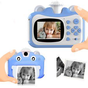 Pickwoo Kid Juguete Mini Digital Cámara linda para niños Bebé Juguetes para niños Foto Instantáneo Imprimir cámara Regalo de cumpleaños para niñas Boys LJ200818