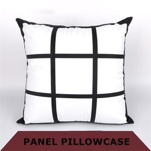 Bricolage Sublimation 9 taie grille 45cm * 45cm chaleur vide pillowslip impression par transfert thermique oreiller polyester cas A07