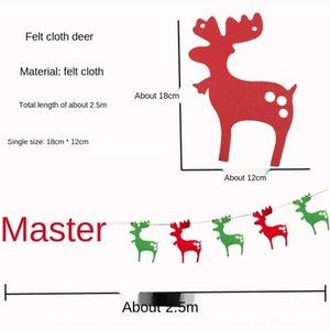 carta sentida tirando de la decoración anciano colgar la bandera de colores tirones de la artesanía de colores colgando la bandera cadena de la bandera del árbol de Navidad decoración x