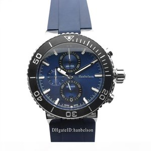 NEW Mens Sport Watch Wristwatches montre Japan Quartz movement Chronograph blue face Wristwatches Steel Case montre de luxe
