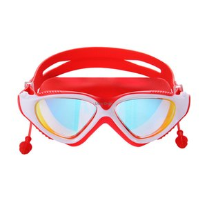 Swimming Glasses with Earplug Water Sport Protection Men Women Anti-fog Diving Mask Professional Underwater Dive Swim Goggles