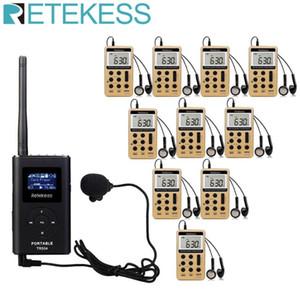 Reunión Sistema de Traducción Iglesia Guiding Guía receptor de radio FM inalámbrico V112 Sistema de Información TR504 0.6W transmisor de FM + 10pcs