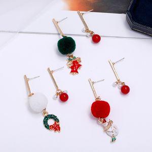 Damen Weihnachtsdekoration Ohrringe Glocke Weihnachtsmann Schneemann Weihnachtsbaum Ohrringe Weihnachten Ohrringe Parteigeschenke T500452