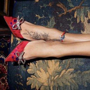 Prowow Lüks Kadın Sandalet Kelebek Rhinestone Süslenmiş Pembe PVC Temizle Cam Topuk Gladyatör Sandalet Ünlü Shoes1