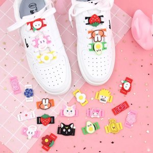 4cm Cartoon Shoelace PVC Accessories Decoration Ornaments Canvas shoes Unicorn Cat Strawberry Buckles Kids Girl Friends Gift