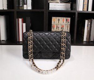 Ball Pattern Bag Style Versione coreana Flap Trapuntato Flap Genuine Pelle Borsa in pelle Shouler Bag Ladies Borse Borse Borse Caviale Borse Borse Zaino 30 cm