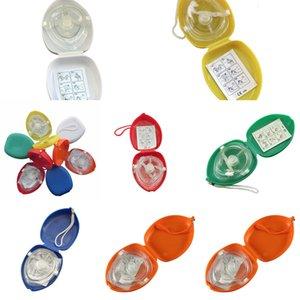 Avec poche 10pcs / lot CPR masque de sauvetage Soupape à couper le souffle à sens unique pour la formation des premiers secours Équipement d'urgence Multir0eg 2G8Q9