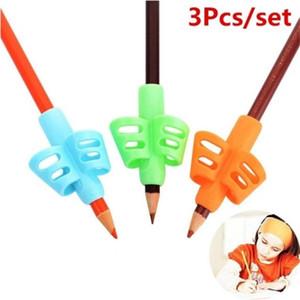 3pcs / set İki Parmak Kalem-Grip Tutucu Çocuk Çocuk Öğrenme Yazma Aracı Yazma Kalem Tutma Düzeltme Cihaz Okulu