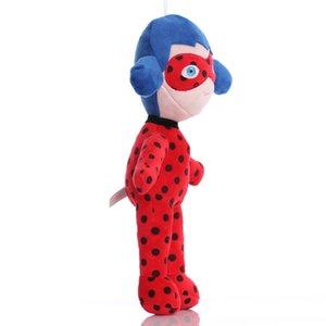 30 cm Güzel Karikatür Ladybug Joaninha Kızlar Yüksek Kalite Maske Süper Kedi Bebek Çocuk Peluş Oyuncaklar Hediye