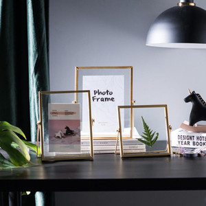 Cutelife Nordic Gold Metal Painting Picture Poster Frame DIY Wall Photo Cube Frame Baby A4 Poster Black Family Decorative