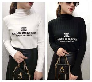 progettista di lusso del maglione delle donne di alta elastico Tory Fall Winter Fashion Channel donne del maglione sexy sottile Hight che basa lavorato a maglia Pullover c