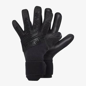 Wholesale-Professional Soocer Goalkeeper Gloves Black Goalie Football Gloves Luvas De Goleiro Man Training Latex Gloves