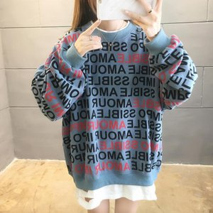 Winter Korean-Style Women's Sweatshirt Women's Clothing Pullover 2020 New Loose Large Sweatshirt Blouse Sweat Shirt 9975#