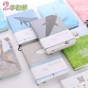 1 2PCS OUR STORY BEGINS Color Pages Notebook Summary Illustrated Thicker Notebook Blue House Walk Alone Moonlight Forest Series