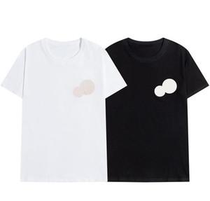 Erkek T Gömlek Moda Kişiselleştirilmiş Erkekler Ve Kadınlar Tasarım T-Shirt Kadın Tişörtleri Yüksek Kalite Tees Siyah ve Beyaz Cott