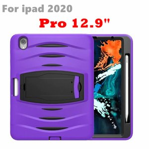 """Shockproof Tablet case For iPad 5 6 4 Pro Silicone PC Pencil Holder Kids Case For iPad 12.9"""" Air 10.5"""" mini 4 3 cover"""
