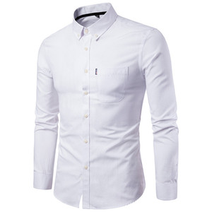 Men's ultra-thin long-sleeved dress shirt solid color men's social dress shirt Meeting clothing formal wear, breathable, comfortable and sk