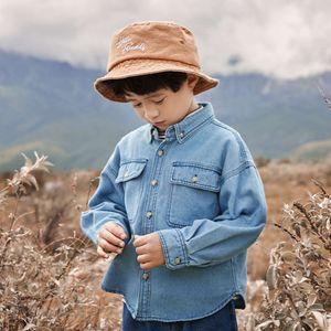 Automne usure Denim de garçons 2020 Nouvelle chemise Cardigan Cardigan Cardigan Top Baby Coat X73V