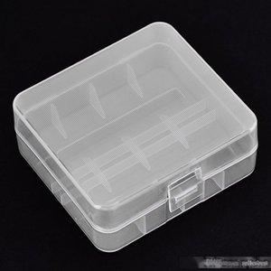 VBESTLIFE 5Pcs / Pack de soporte de la batería portátil estuche rígido de PP transparente caja de almacenaje para 2 x 26650 baterías con gancho